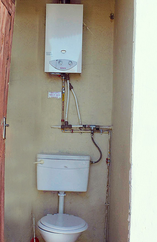POVO Shower and Gas System
